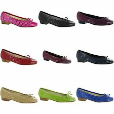 Riva Andros Suede Ballerina Womens/Ladies Ballet Style Shoes/Flats