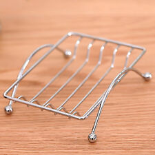 Chrome Iron Shower Bathroom Hot Sale Square Soap Tray Dish Holder Stand Metal