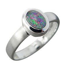 Schmuck-Michel Ring Silver 925 Opal-Triplet 0 3/10x0 1/5in Size 50-65 available