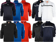 Puma Esito Mens Half Zip V-Neck Pollover Woven Jacket Football Training Sport