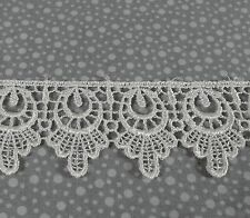 """Ivory Venice Lace Rayon Half Yard (1/2 yd) 1.5"""" wide floral Pinkismart sewing 09"""