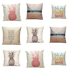Retro Vintage Throw Home Decorative Cotton Linen Pillow Case Cushion Cover