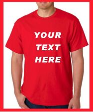 Custom Personalized T Shirts -print your TEXT, Short Sleeve, camisetas
