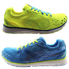 Puma Faas 300 V2 Mens Running Trainers Shoes Blue Yellow Lace Up (186492 17 U71)