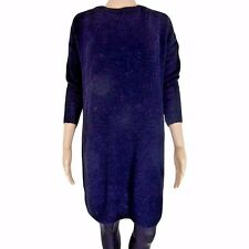 New Womens Ex Stock R..I... Navy Blue Over Sized Knitted Jumper Tunic Dress