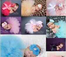 Princess Newborn Toddler Baby Girl Tutu Skirt&Headband Photo Prop Costume Outfit
