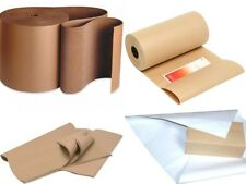 Brown Kraft Wrapping Paper Rolls Sheets Corrugated Cardboard Rolls *ALL IN 1*