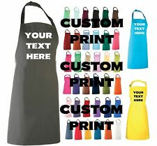 ADULT CUSTOM PRINT APRON PERSONALISED WITH YOUR TEXT COOKING BAKING ART CRAFT