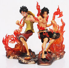 One Piece 14 CM Monkey D Luffy Rubber Portgas D Ace  Action Figure Anime Manga