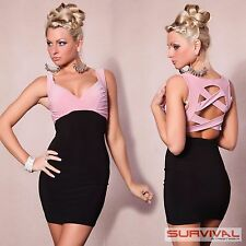 Womens Cocktail Dress Size 6 8 10 12 Sleeveless Evening Pink Party Club Wear