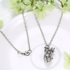 3D Retro Unique Anatomical Human Hollow Heart Pendant Sweater Chain Necklace new