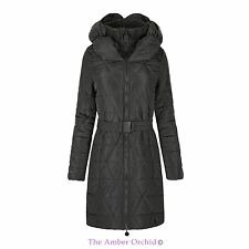 KIDS GIRLS QUILTED PUFFER PADDED BELTED LONG WARM JACKET PARKA COAT 7-13