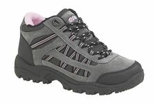 LADIES SIZE 7 8 9 10 11 12 GREY PINK FABRIC LIGHTWEIGHT WALKING HIKING BOOTS