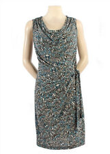 New JAPANESE WEEKEND MATERNITY Nursing Side Sweep Career Drape Front Luxe Dress