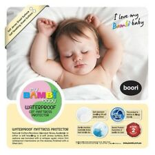 New Bambi Baby Waterproof Fitted Cot Mattress Protector Cotton Boori 75 x 131cm