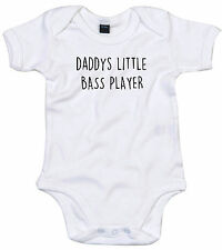 BASS PLAYER BODY SUIT PERSONALISED DADDYS LITTLE BABY GROW GIFT