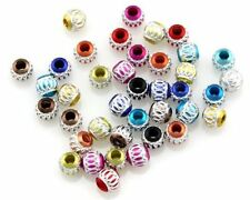 HOT 6mm,8mm,12mm Big Hole Carved Aluminum Round Loose Spacer Beads