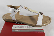 Marco Tozzi Sandal, white/ gold, soft inner sole, Real leather NEW