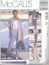 McCall's 8785 Misses' Shirt, Top, Pull-On Pants and Shorts  Size 10, 12, 14