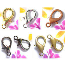 100Pcs Metal Lobster Claw Bronze Golden Silver Plated Clasps DIY 10 12 14 16mm