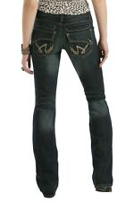 New Women's Cruel Girl Darby CB34954071 Slim Fit Low Rise Flare Cowgirl Jeans