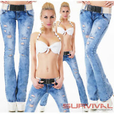 Womens Jeans Size 6 8 10 12 14 Sexy Low Rise Stretch Denim Pants With FREE Belt