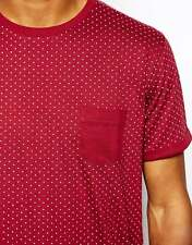 New Mens Brave Soul 2 Pack Polka Crew T-Shirts - Red XXS to M - 100% Cotton Tees
