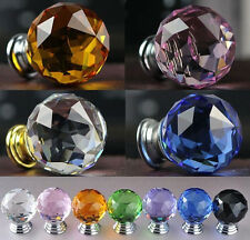 30mm Round Crystal Glass Cabinet Drawer Wardrobe Door Pull Handle Knobs For nice