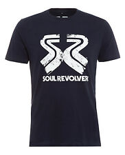 Men's Fitted Navy Vintage Style T-shirt by Soul Revolver