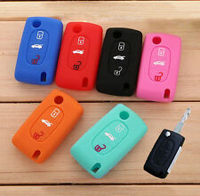 FOR PEUGEOT 307 308 406 407 408 207 607 107 SILICONE KEY REMOTE COVER CASE FOB