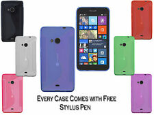 S-Line Wave TPU Soft Silicone Gel Grip Back Case Cover For Nokia Lumia 535 UK