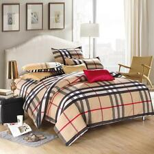 England Style Single Double Queen King Size Bed Set Pillowcase Quilt Duvet Cover