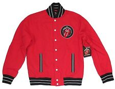 THE ROLLING STONES GRRR! 50 YEARS RED VARSITY JACKET COAT NEW OFFICIAL NWT