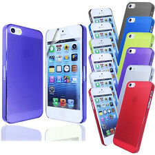 New Ultra Thin Transparent 0.5mm Case Cover FOR iPhone 5S 5G+Screen Protector