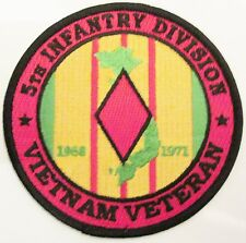 5TH INFANTRY DIVISION*VIETNAM VETERAN* 4 INCH ROUND PATCH. 2 PATCHES PER ORDER