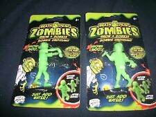 Lot of 2 Brain dead zombies Glow in the dark grow zombie Grows up to 600% age 4+