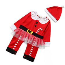 New Baby Girls Dress Koala Infant Santa Claus Suit Christmas Costume Party Dress