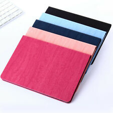 Luxury Slim Fashion Leather Wood Grain Flip Stand Fold Cover Case For iPad 5 Air
