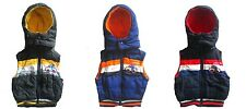 BOYS SHOWERPROOF FLEECE LINED HOODED GILET BODYWARMER JACKERT AGE 1 - 5 YEARS