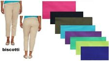 jcp women's pants cropped solid flat front size 2, 4, 8, 10, 12, 14, 16 NEW