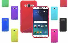 S-Line Wave TPU Soft Silicone Gel Grip Back Case Cover For Samsung Galaxy J5 UK