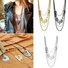Charms Bohemia Leaf Multilayer Necklace Pendant Fashion Women Long Sweater Chain