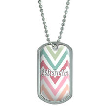 Dog Tag Pendant Necklace Chain Names Female Mic-Mis