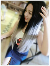 """22-24"""" Natural Straight Long Wig Sexy Balayage Ombre Color Synthetic Party/Daily"""