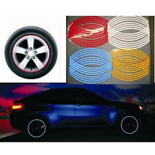 16 Strips Wheel Sticker Reflective Rim Stripe Tape Bike Motorcycle Car Tape