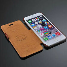 Luxury PU Leather Flip holder Case cell phone cover for Apple iPhone 6 6s plus +