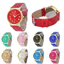 Lady Stylish Geneva Watches Women Faux Leather Analog Quartz Wrist Watch 2015