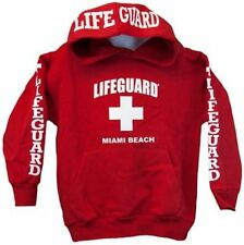 Lifeguard Hoodie Kids Life Guard Sweatshirt Red Life guard Official Licensed kid