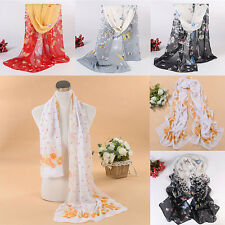 Cute New Women Girls Chiffon Print Silk Long Soft Neck Scarf Shawl Scarves Wraps
