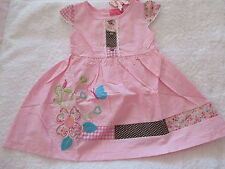 PRETTY  GIRLS SUMMER DRESS PINK  with FLOWERS  SIZE 3, 4 & 5 BNWT
